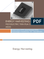 Energy Harvesting using piezoelectric thin-film cantilever MEMS
