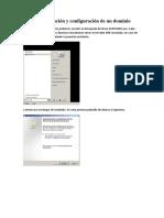 Informe Instalación y Configuración de Un Dominio