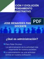INTRODUCCIÓN  EVOLUCIÓN  PENSAMI  ADM   BENAVIDES-1.ppt