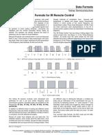 Data FormData Formats for IR Remote Control
