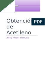 OBTENCIÓN DE ACETILENO
