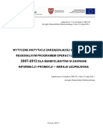 AKTUALNE Wytyczne IZ WRPO Dla Beneficjentow w Zakresie Informacji i Promocji Maj 2010