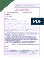 Teste Integrado de Língua Portuguesa e Matemática