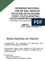Parte Xi, Política Monetaria en El Perú