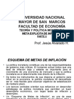 Parte x, Metas Implicitas de Inflación