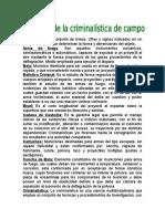 Glosario de Criminalistica.