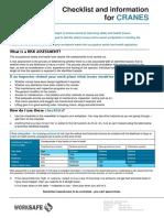 Industry Checklist Cranes