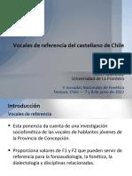 VOCALES DE REFERENCIA DEL CASTELLANO DE CHILE