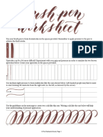Brush Pen Worksheet 1 Hoja