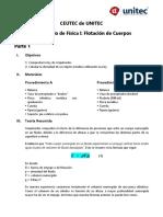 Laboratorio #3 Flotación_Archimedes (Física I)