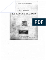 Para Estudiar La Lengua Italiana