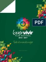 Resumen Plan Nacional Buen Vivir - Español