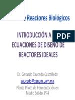 Introducción a las Ecuación de Diseño de Reactores Ideales