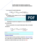 Calculos estequiometricos