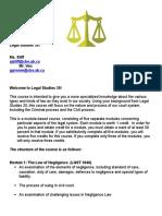 legal studies 30 course outline
