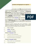 PNL e a Importância Da Linguagem Nos Negócios