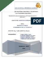 """Diseño Factorial General y 2k """"Experimento de La Catapulta"""""""