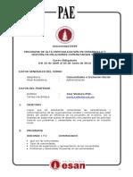 Syllabus Ventura Comunidades e Inclusión Social PAE DGRC16 1 FORMATEADO