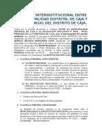 Convenio Interinstitucional Entre La Municipalidad Distrital de Caja y La i
