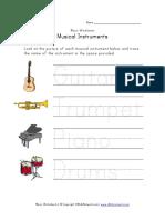 Music Worksheet Handwriting