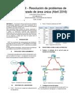 Resolución de problemas de OSPFv2 avanzado de área única