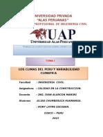 Cambio Climatico en El Peru y en el Mundo
