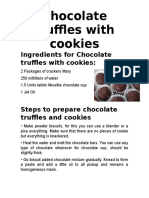 Ingredients for Chocolate Truffles With Cookies