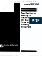 Ansi-Aws Standard d14.1-97; Specification for Welding of Industrial and Mill Cranes and Other Material Hand (eBook, 141 Pages)