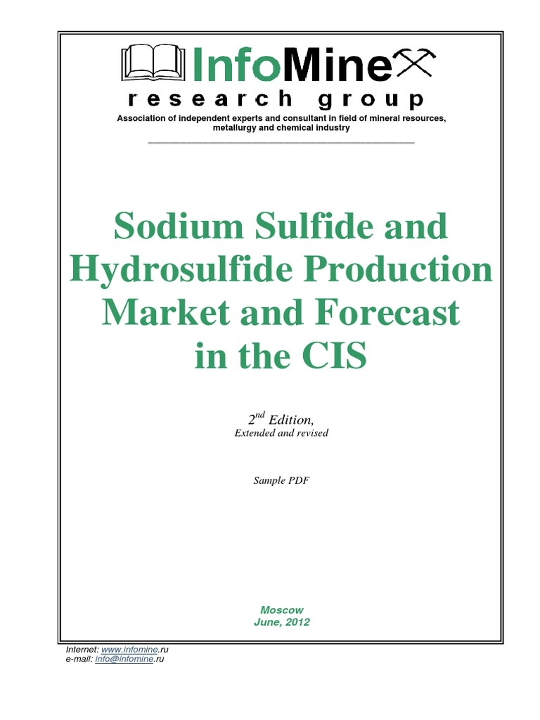 Na2S and NaHS Production in the CIS | Sodium Hydroxide | Sets Of