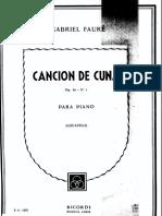 Cancion de Cuna - Gabriel Fauré