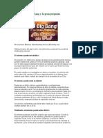 El Big Bang y La Gran Pregunta