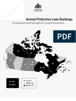 2008 Canadian Animal Protection Laws Rankings