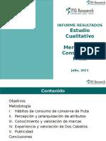 Informe Estudio Cualitativo Mercado de Conservas de Frutas