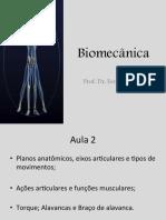 Biomecânica - Aula 2