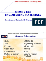 UEME2133 Engineering Materials Introduction