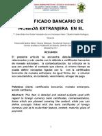 certificado bancario de moneda extranjera en el peru