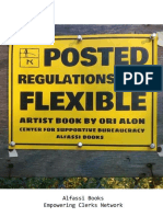 Regulations are Flexible Artist Book by Ori Alon