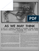As We May Think Vannevar Bush