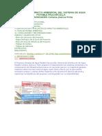 Estudio de Impacto Ambiental Del Sistema de Agua Potable Paucarcolla