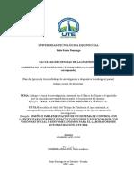 Formato Plan de Trabajo de Titulación ELECTROMECANICA Y AUTOMOTRIZ 1