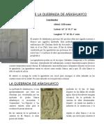 Informe de La Quebrada de Añashuayco