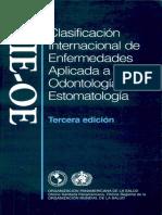 Clasificacion Internacional de Enfermedades Aplicada a Odontologia y Estomatologia