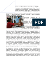 Avances de La Eliminacion de La Desnutricion de Guatemala