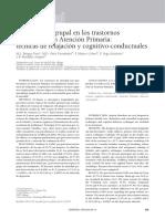 Intervención Grupal en Los Trastornos de Ansiedad en Atención Primaria Técnicas de Relajación y Cognitivo-conductuales
