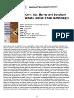Niir Wheat Rice Corn Oat Barley Sorghum Processing Handbook Cereal Food Technology