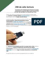 Puertos USB de Sólo Lectura