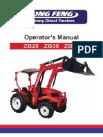 Dongfeng Zb25!35!45 Operator Manual