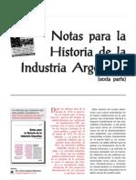 Notas Para La Historia de La Industria Argentina Parte6