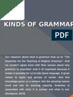 Kinds of Grammar