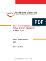 Data Governance a Business Value-Driven Approach